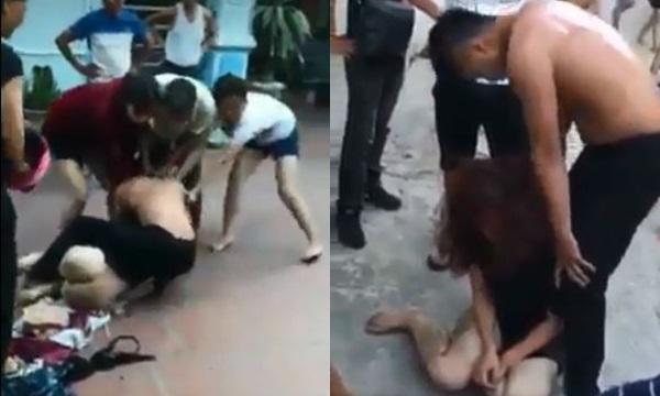 Hạ Long: Bồ bị mẹ đẻ và vợ đánh ghen mài thân dưới xuống sân 40 độ, chồng bênh bồ đánh luôn cả mẹ