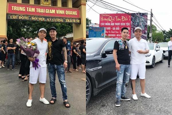 Dương Minh Tuyền được thả trước thời hạn, anh em xã hội xếp siêu xe dàn hàng trước trại giam như đi đón Việt kiều về nước