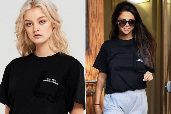 """Giữa """"tâm bão"""", Selena ngầm nhắn nhủ tới các cô gái một thông điệp ý nghĩa qua chiếc áo mà mình đang mặc"""
