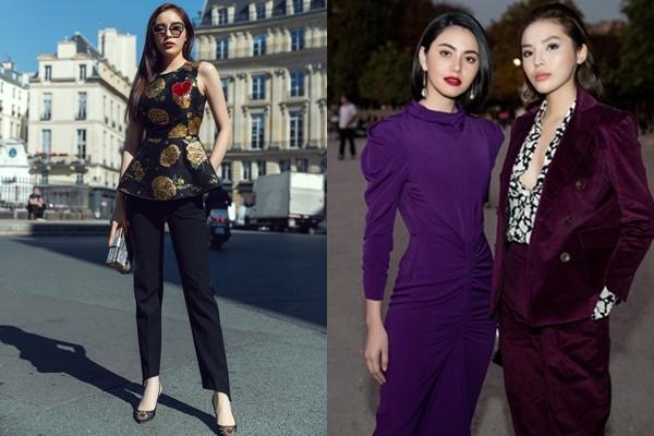 """Kỳ Duyên rạng rỡ đọ sắc bên """"đệ nhất mỹ nữ"""" Thái Lan - Mai Davika tại tuần lễ thời trang Paris Fashion Week 2018"""