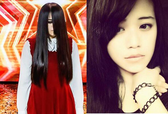 """Ẩn sau mái tóc kinh dị, chẳng ai ngờ """"ma nữ"""" thắng Asia's Got Talent lại có nhan sắc xinh đẹp thế này!"""
