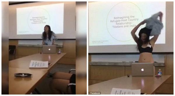 """Bị cô giáo chê """"hở hang"""", nữ sinh lột sạch đồ ngay khi đang livestream thuyết trình luận văn tốt nghiệp"""