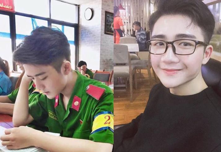 """""""Đổ nghiêng ngả"""" trước nam sinh HV cảnh sát đẹp trai như sao Hàn"""