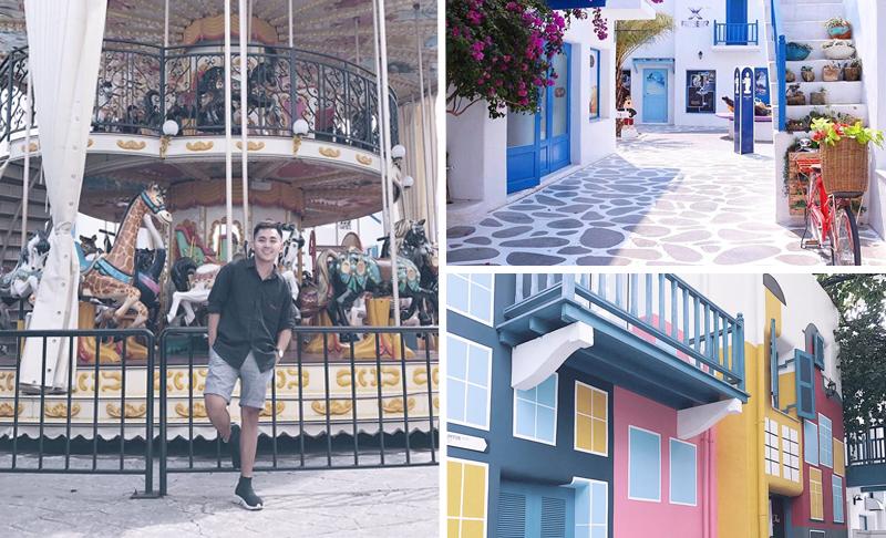 """Cầm 500k check-in """"tẹt ga"""" ở Santorini Park - khu vui chơi xinh đẹp ở Thái Lan"""