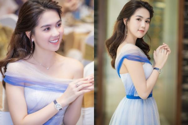Ngọc Trinh xinh đẹp trong váy voan nhẹ nhàng, đeo đồng hồ nạm kim cương hơn 1 tỷ đồng dự sự kiện nhậm chức CEO