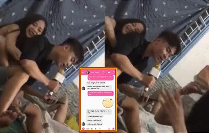 """Vừa nhắn tin xin lỗi vợ, thanh niên đã lộ clip """"kẹp đùi gái như ngóe ôm măng"""" đúng chất Sở Khanh"""