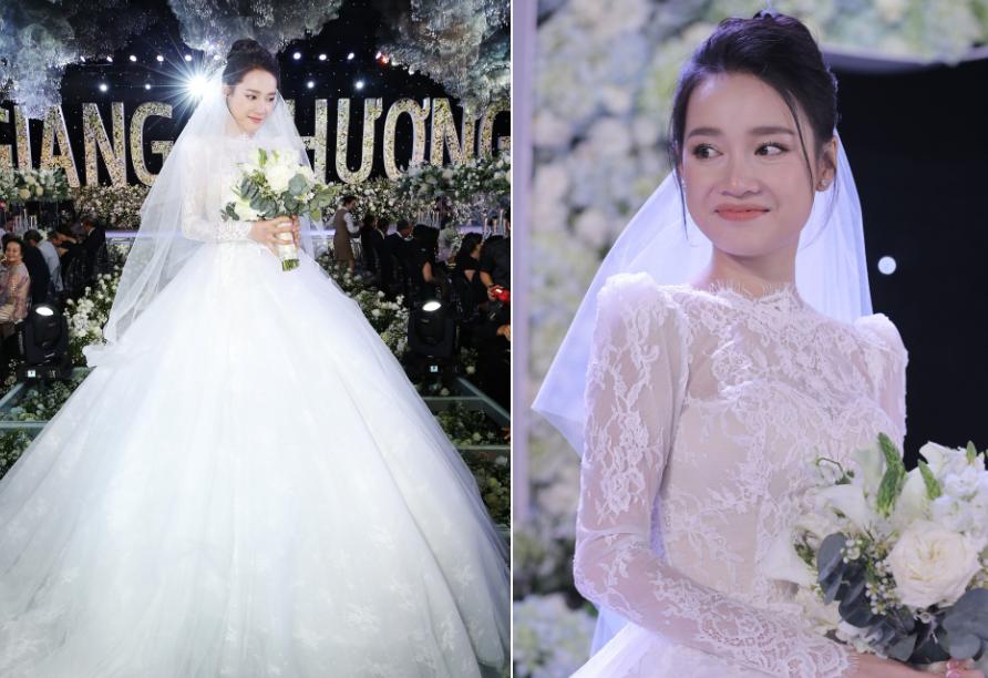 """Soi kỹ 4 bộ váy may riêng cho Nhã Phương trong lễ đính hôn và lễ cưới, nhìn là chỉ muốn """"chống lầy"""" luôn"""