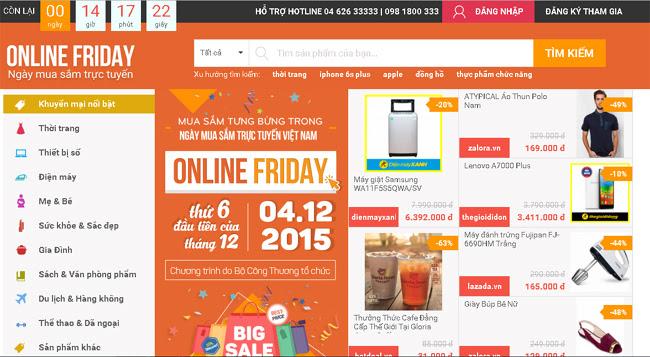 """Quá """"máu"""" khuyến mại, người tiêu dùng """"đánh sập"""" trang web Ngày hội mua sắm trực tuyến Online Friday"""