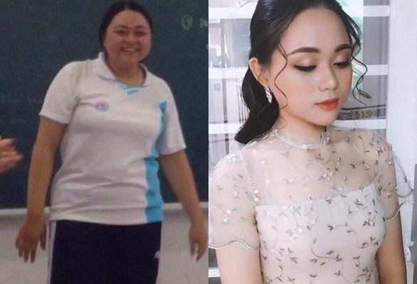 Giảm từ 100 kg xuống còn 60 kg trong 9 tháng, cô gái chia sẻ bí quyết lột xác ngoạn mục