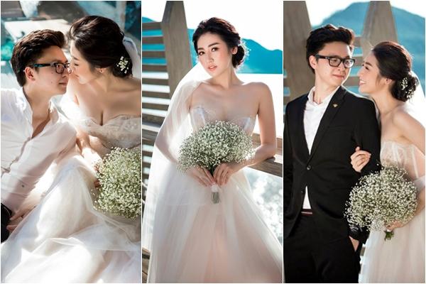 """Sát ngày lên xe hoa, Á hậu Tú Anh tung bộ ảnh cưới không thể """"ngọt"""" hơn với vị hôn phu đại gia"""