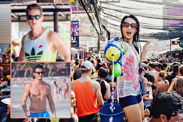 """Phát cuồng với hội """"trai Tây"""" chơi """"bắn súng nước"""" trong lễ hội Songkran của người Thái Lan"""