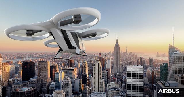 Taxi điện bay tự hành của Airbus thử nghiệm vào năm 2018 - Bầu trời sắp giống trong phim viễn tưởng?