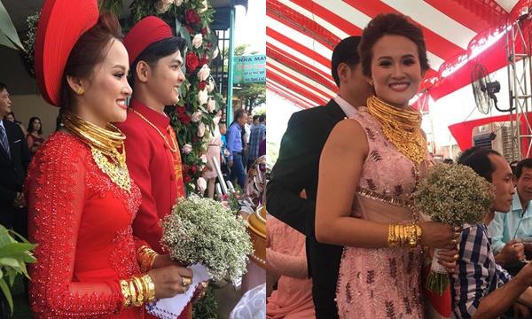 """Siêu đám cưới ngập vàng ở Đồng Nai: Cô dâu chú rể suýt """"gãy cổ"""" vì vàng, tân hôn cũng nồng nàn trong vàng"""