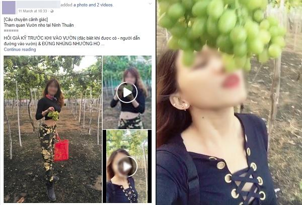 """Lên mạng tố chủ vườn nho Ninh Thuận chặt chém khách, 2 nữ phượt thủ bị """"ném đá"""" ngược vì hành động kém sang"""