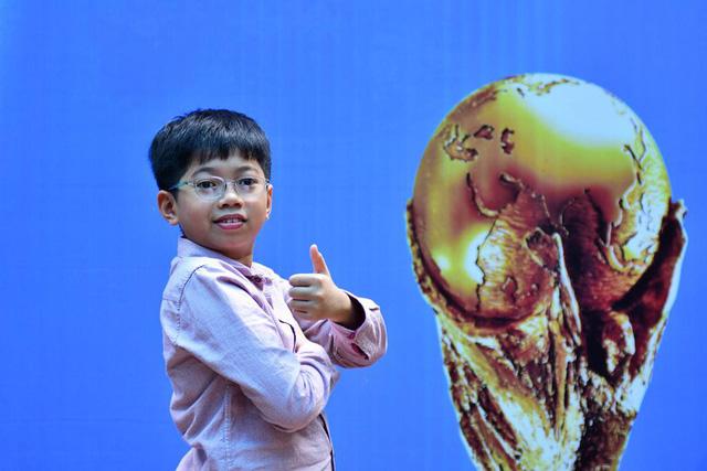 Việt Nam có một học sinh lớp 5 duy nhất góp mặt ở trận chung kết World Cup 2018